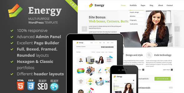 Energy -  Responsive Multi-Purpose Theme - Corporate WordPress