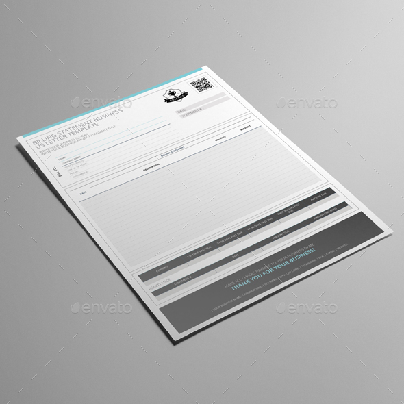 Billing Statement Business Us Letter Template By Keboto | Graphicriver