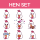 Hen Set - GraphicRiver Item for Sale