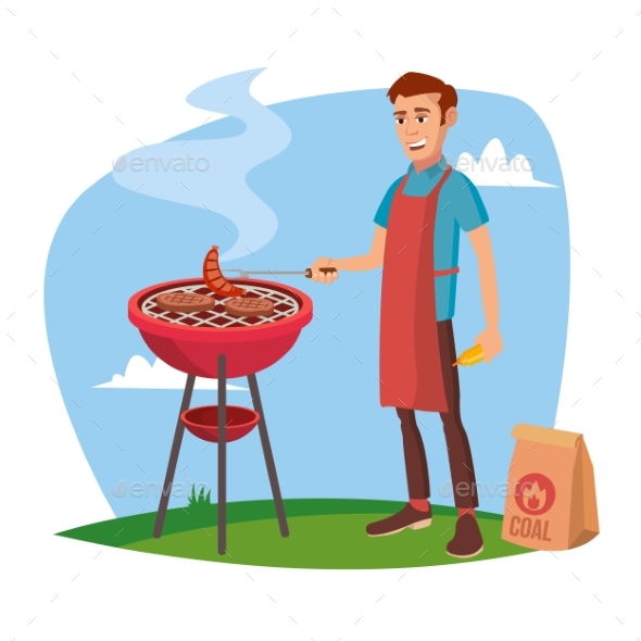 GraphicRiver BBQ Cooking Vector 20631554