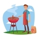 BBQ Cooking Vector