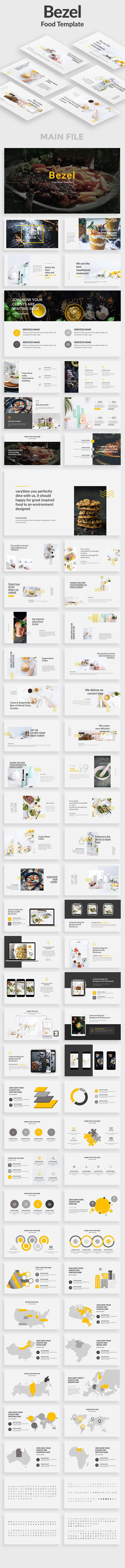 Bezel Food Keynote Template - Creative Keynote Templates