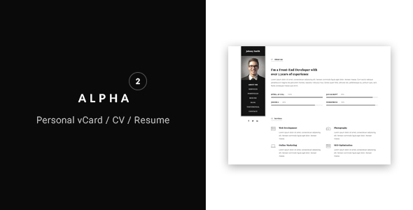Virtual Business Card Bootstrap Templates Bootstrap - Virtual business card template