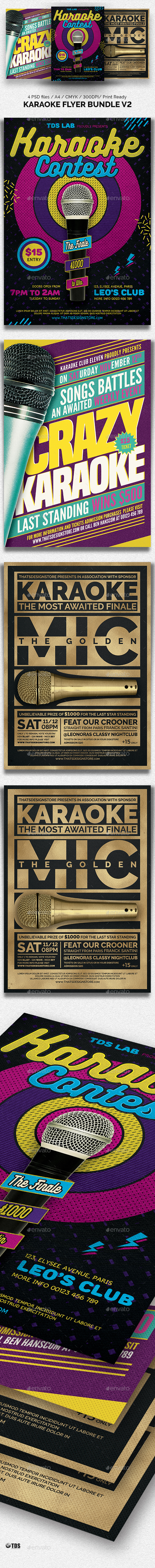 GraphicRiver Karaoke Flyer Bundle V2 20632075