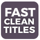 Fast Clean Titles - VideoHive Item for Sale