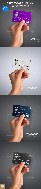 GraphicRiver Card Mockup & Generator 01 20632122