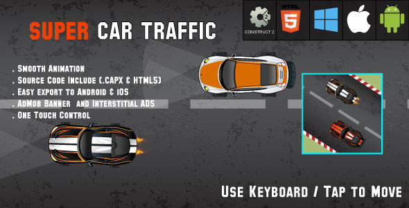 Car Traffic - HTML5 Racing Game - Android & IOS + AdMob (CAPX) - CodeCanyon Item for Sale