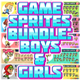 10 Game Sprites Bundle Boys & Girls - GraphicRiver Item for Sale