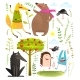 Wild Forest Objects and Animals Set - GraphicRiver Item for Sale