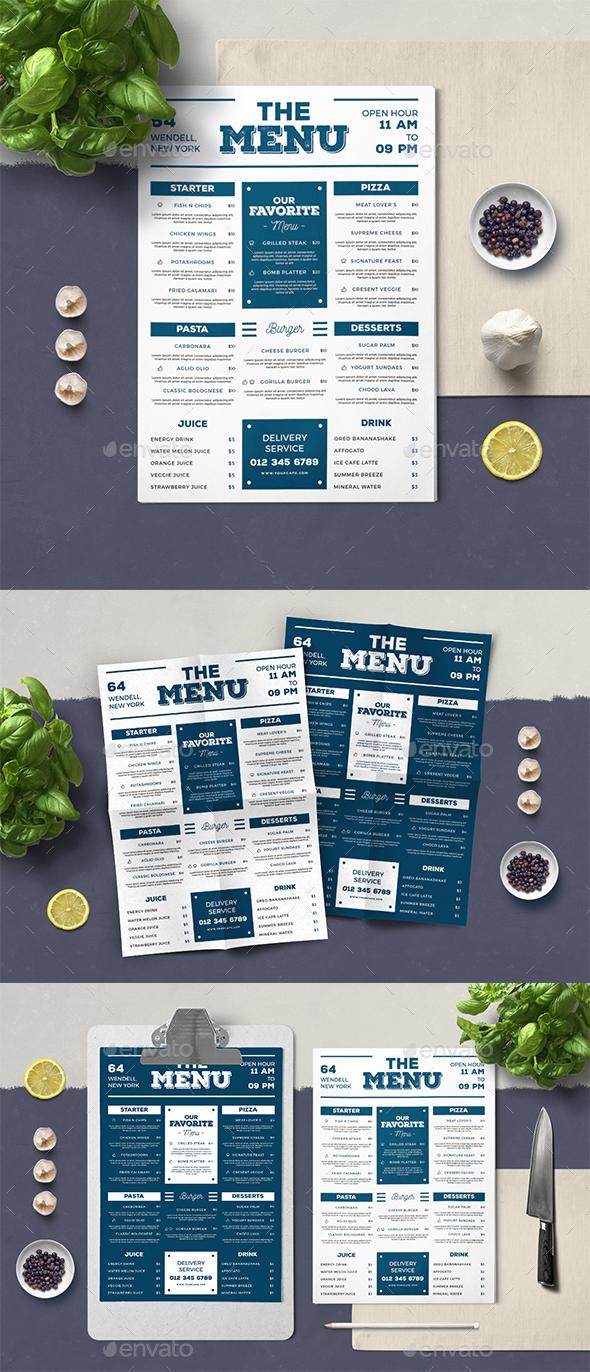 Summer Food Menu - Food Menus Print Templates