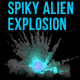 Bluish Spiky Alien Explosion - VideoHive Item for Sale