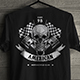 Awesome Skull T-Shirt Design for Motorcycle Club