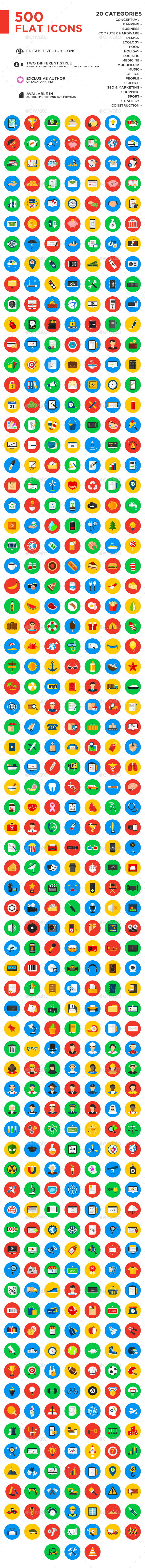 500 Vector Icons - Icons