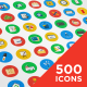 500 Vector Icons - GraphicRiver Item for Sale