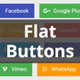 Flat Buttons - Modern & Multipurpose Options