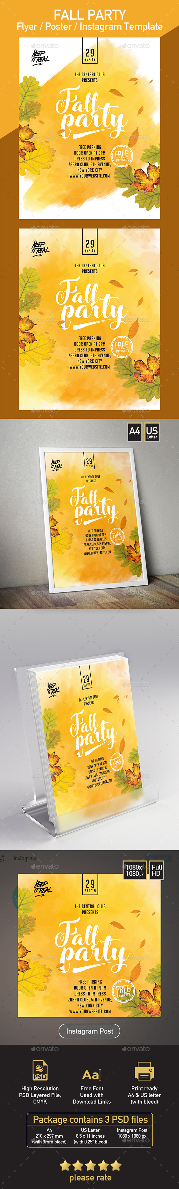 Autumn Beer Festival Flyer - Set of 3 Templates - Events Flyers