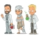 Cartoon Doctor Patient Scientist Characters Set - GraphicRiver Item for Sale