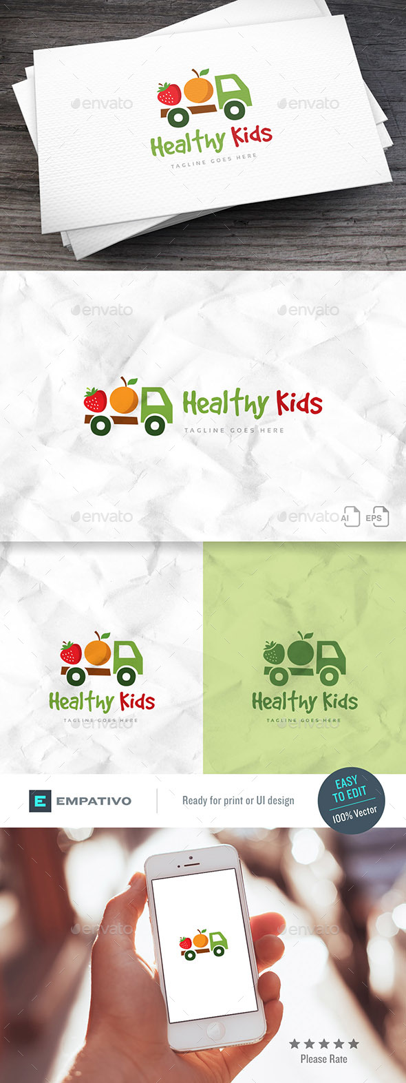 Healthy Kids Logo Template