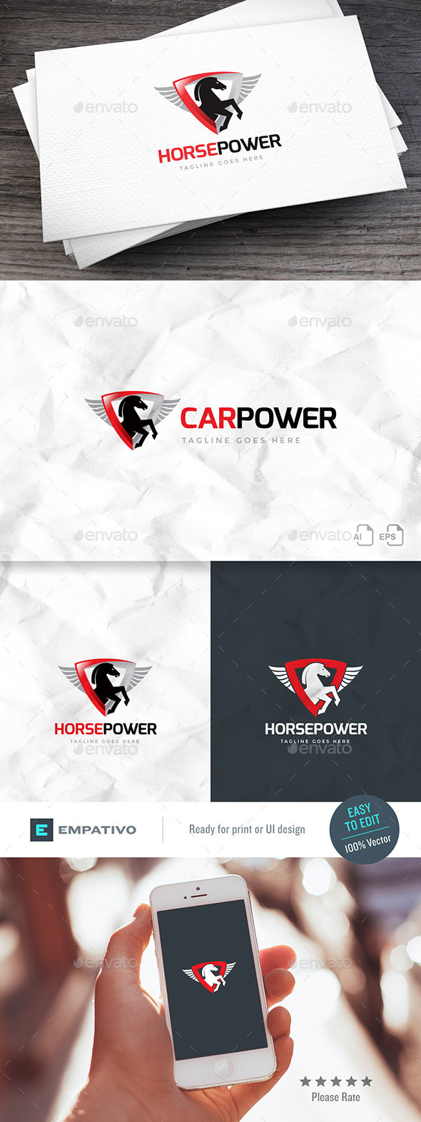 Horsepower Logo Template - Animals Logo Templates