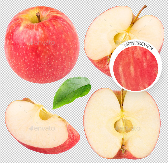 GraphicRiver Collection of Isolated Apples 20632768