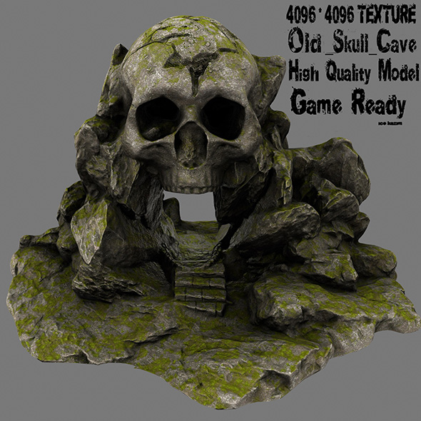 skull cave 2 - 3DOcean Item for Sale