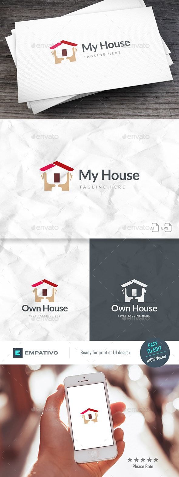 Own House Real Estate Logo Template