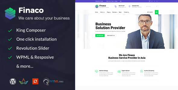Finaco - Consulting & Business WordPress Theme - Business Corporate