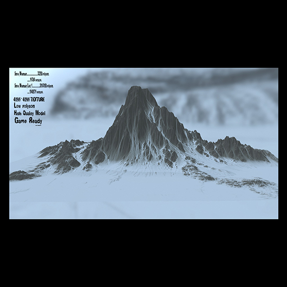 snow mountain 2 - 3DOcean Item for Sale