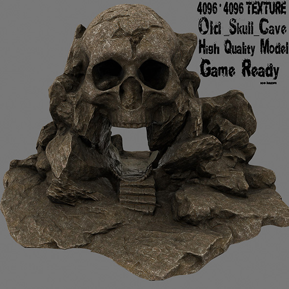 skull cave 4 - 3DOcean Item for Sale