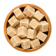 Demerara brown sugar cubes in wooden bowl over white - PhotoDune Item for Sale