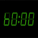 60 Second Green Digital Countdown Display - VideoHive Item for Sale