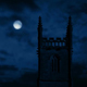 Church At Night With Full Moon - VideoHive Item for Sale