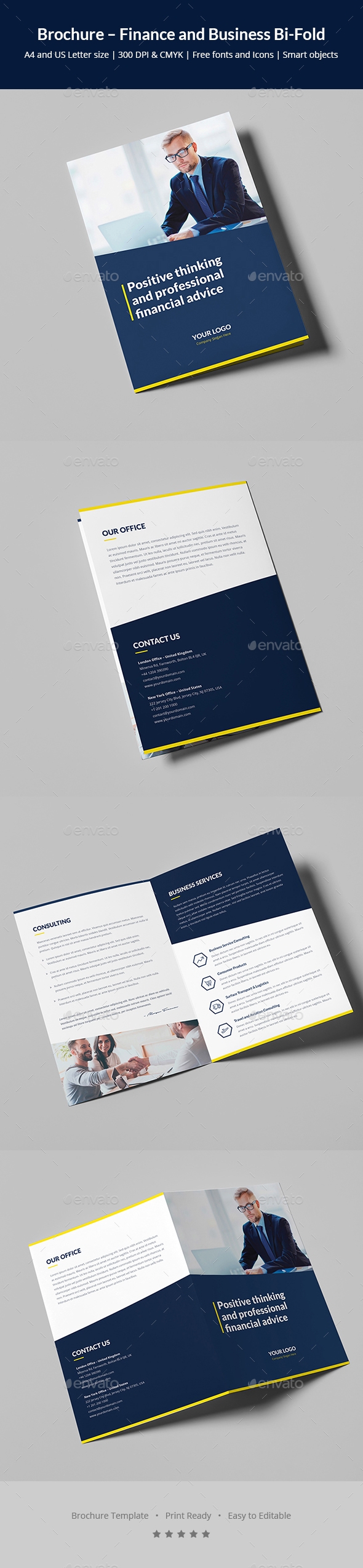 Brochure – Finance and Business Bi-Fold - Corporate Brochures