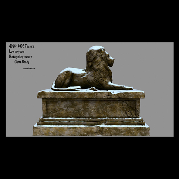 Lion Statue 1 - 3DOcean Item for Sale