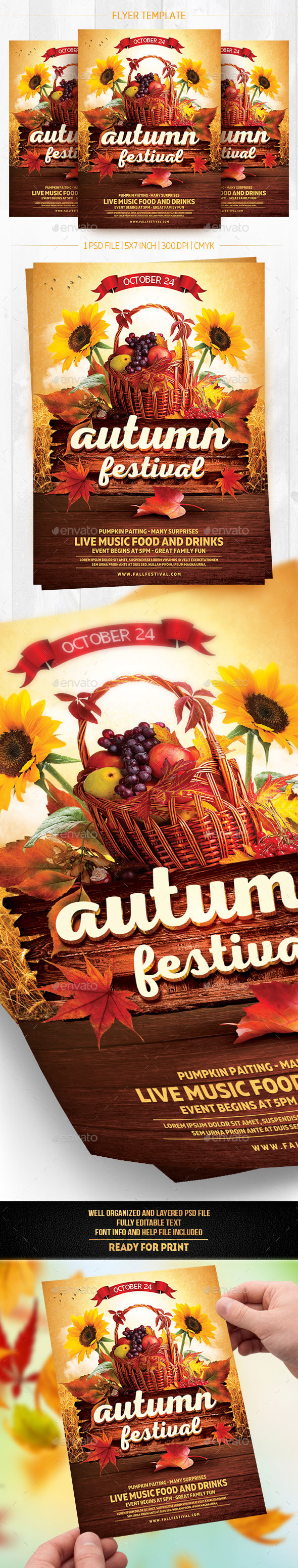 GraphicRiver Autumn Festival Flyer Template 20633316