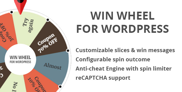 Win Wheel For WordPress - CodeCanyon Item for Sale