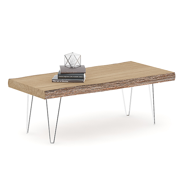 3DOcean Rough Table with Books 20633368