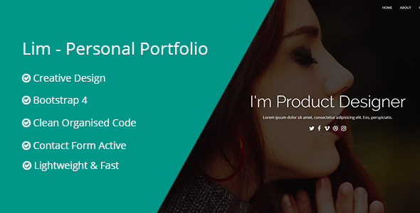 Lim - Personal Portfolio Template