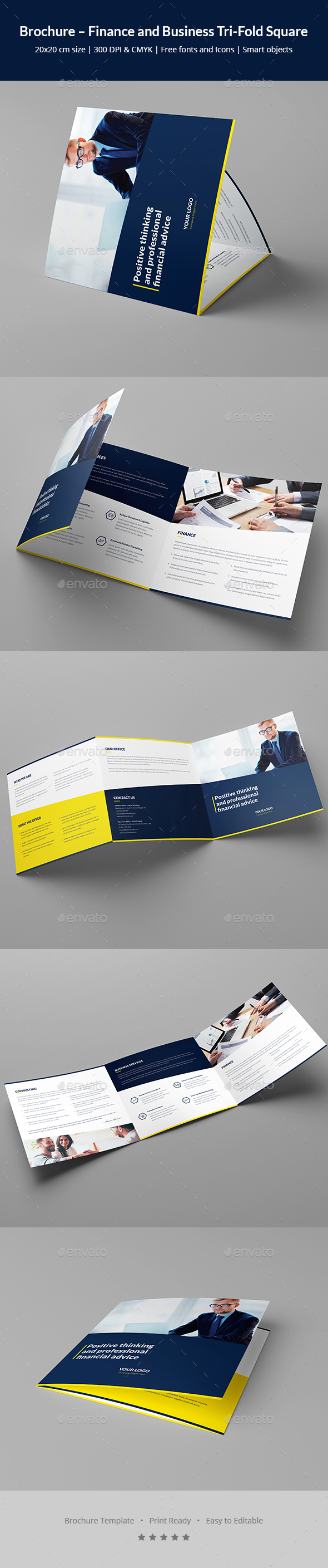 Brochure – Finance and Business Tri-Fold Square - Corporate Brochures