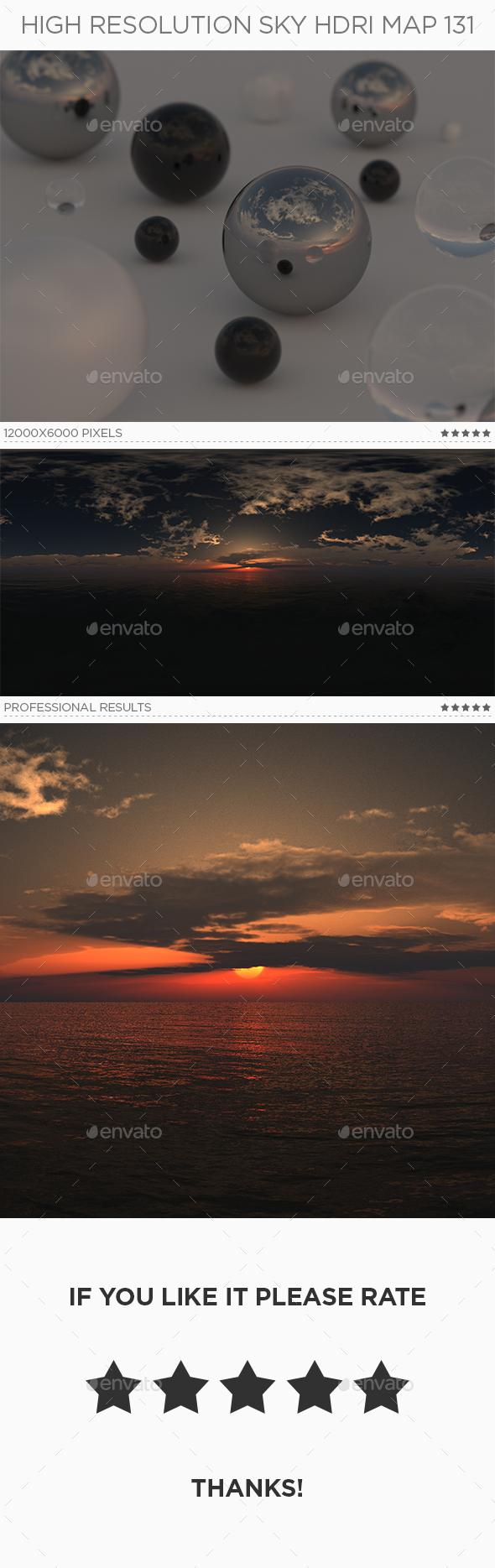 High Resolution Sky HDRi Map 131 - 3DOcean Item for Sale