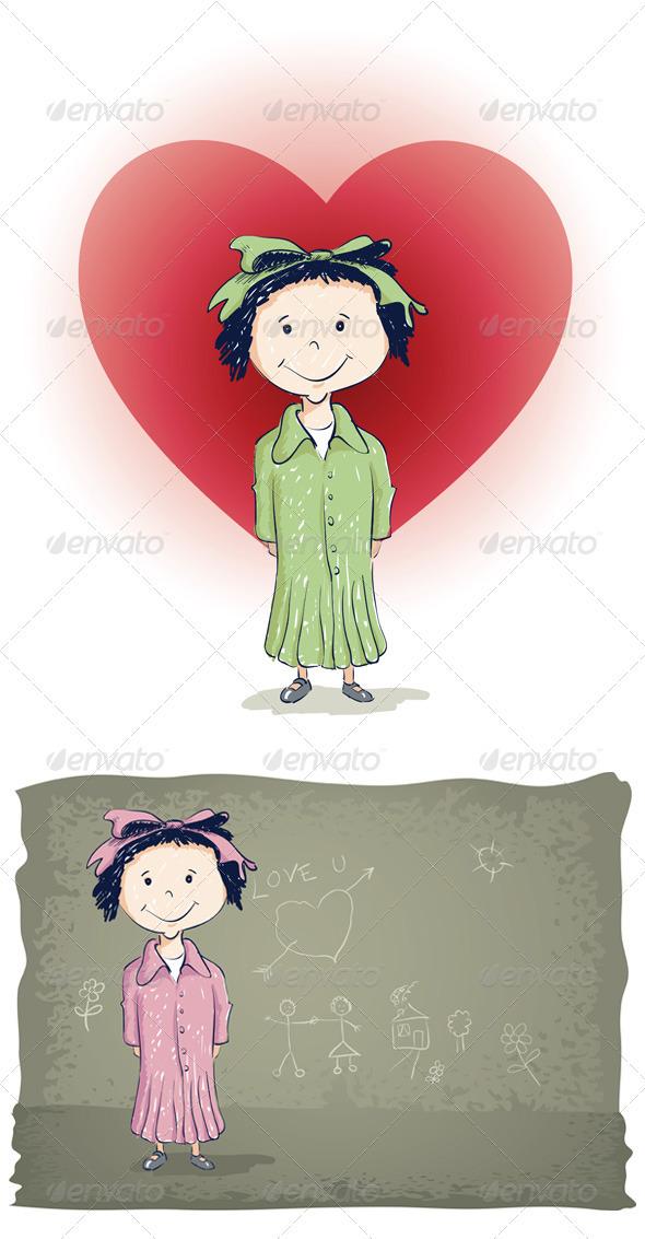 Little Girl - People Characters