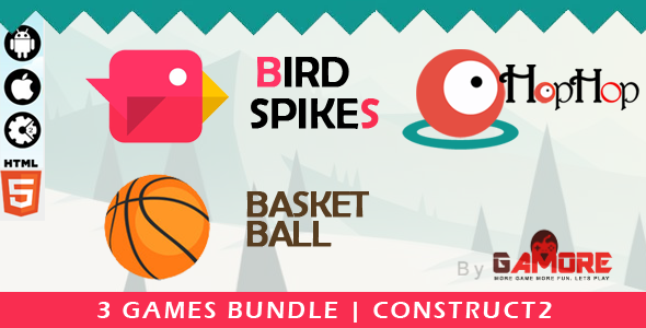 3 in 1 Construct 2 HTML5 Game Bundle - Construct2 CAPX - CodeCanyon Item for Sale