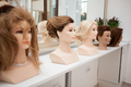 Different mannequin with different hairstyles