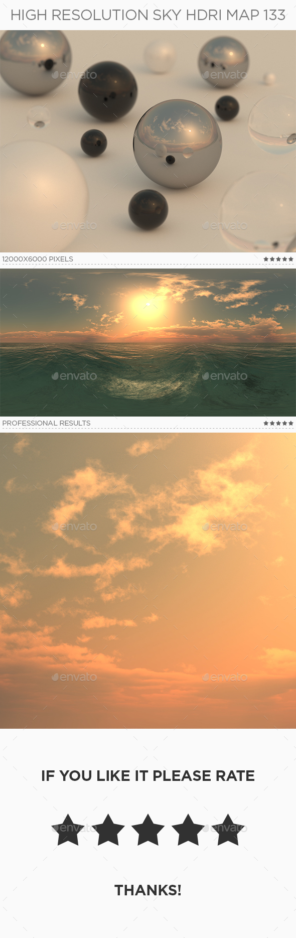 High Resolution Sky HDRi Map 133 - 3DOcean Item for Sale