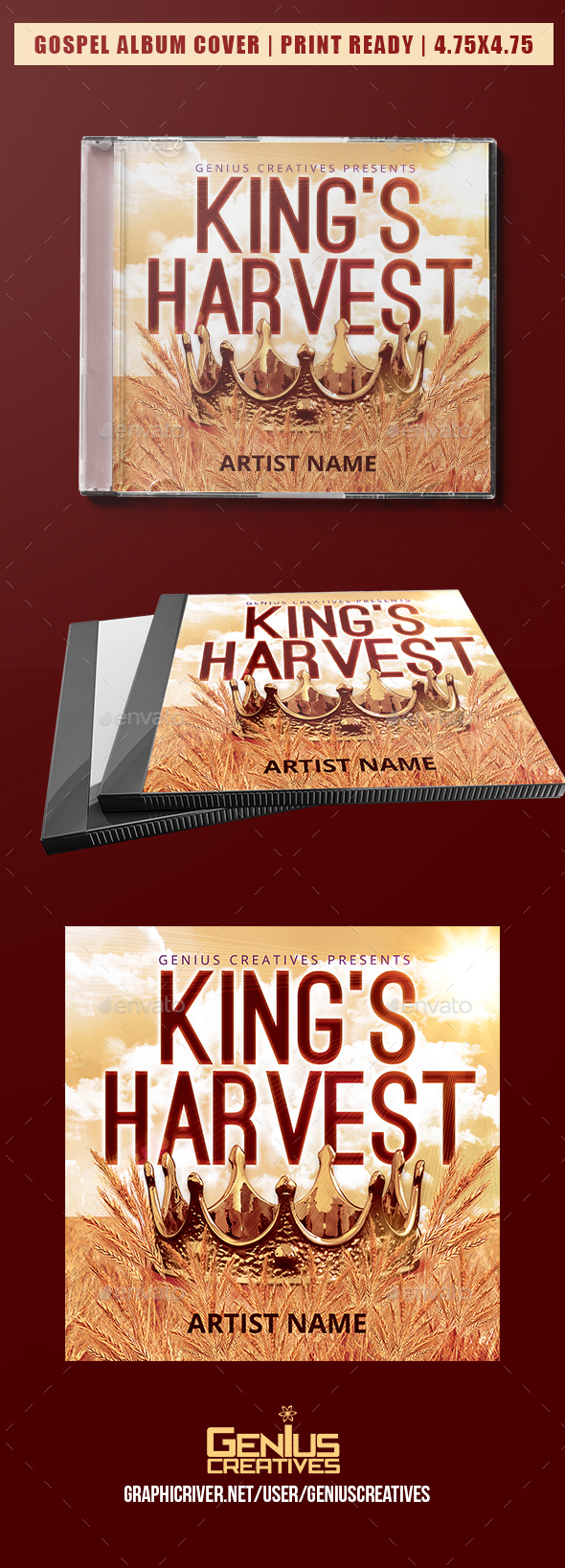 GraphicRiver King's Harvest Album Cover Template 20633724