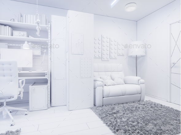 3d Illustration Childrens Room Interior Design - Architecture 3D Renders