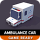 Low Poly Ambulance Car