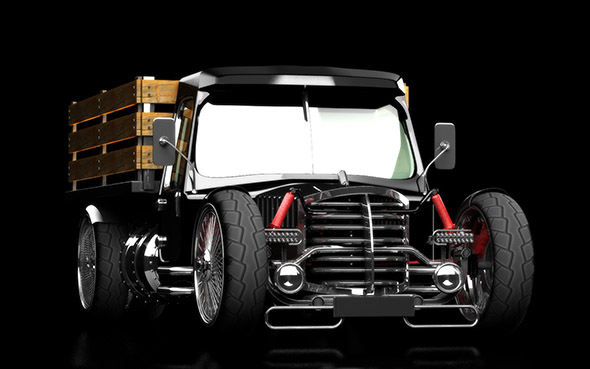3DOcean hot rod truck 20634086