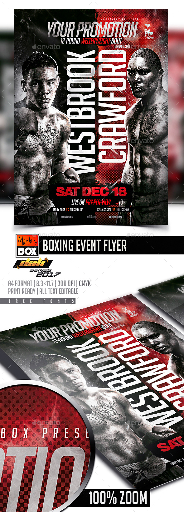 GraphicRiver Boxing Event Flyer 20634174