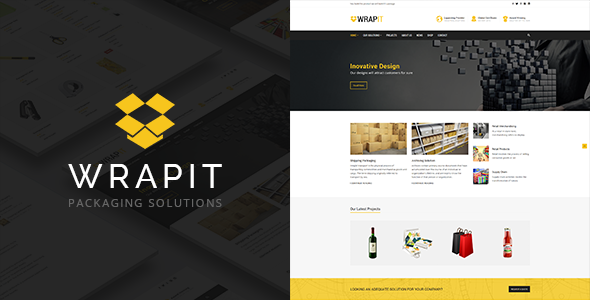 wrapit - packaging company wordpress theme (business) WrapIt – Packaging Company WordPress Theme (Business) preview